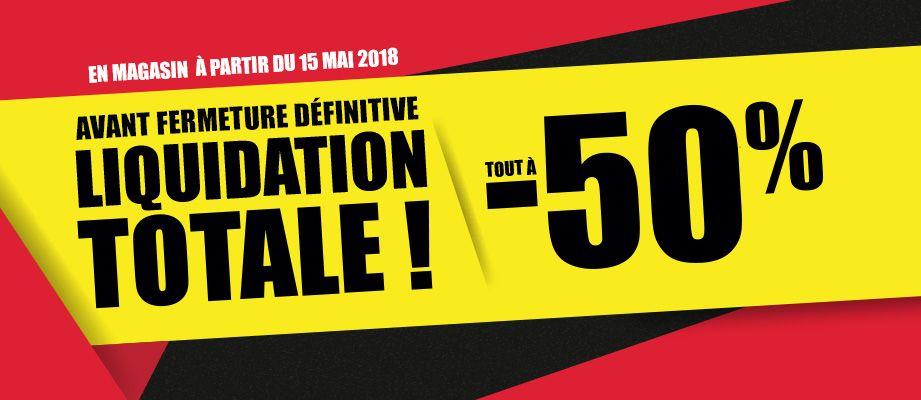50% de réduction sur tout le magasin (Liquidation totale) - Granville (50)