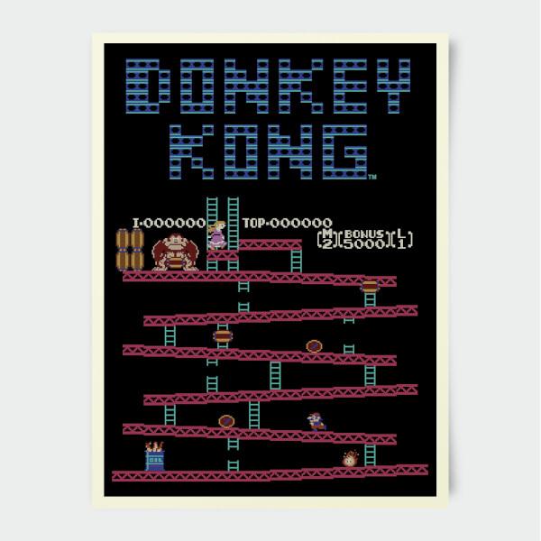Sélection de Posters Nintendo en Promotion - Ex Donkey Kong Rétro (Format A3)