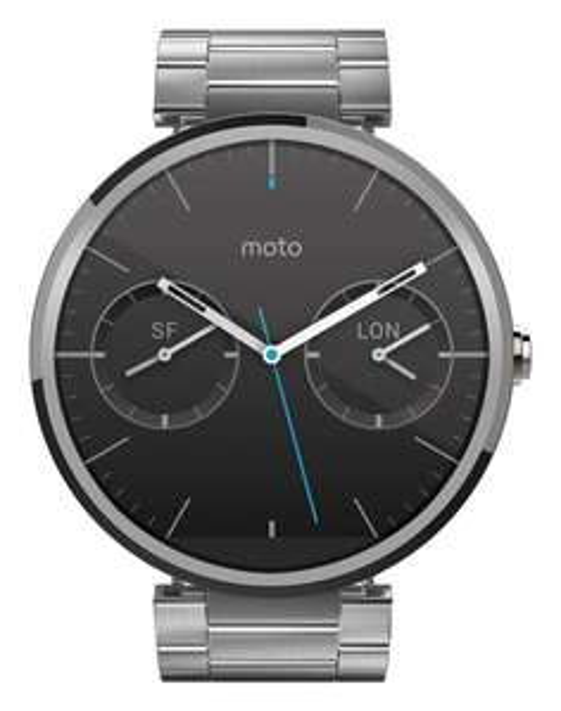Montre connectée Motorola Moto 360 Android Wear pour Appareil Android 4.3 et plus - Métal Gris