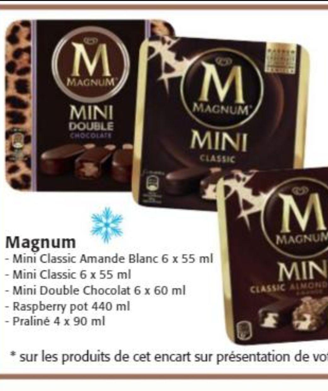 [Carte Colruyt Plus] 30% de réduction immédiate sur une sélection de glace Magnum