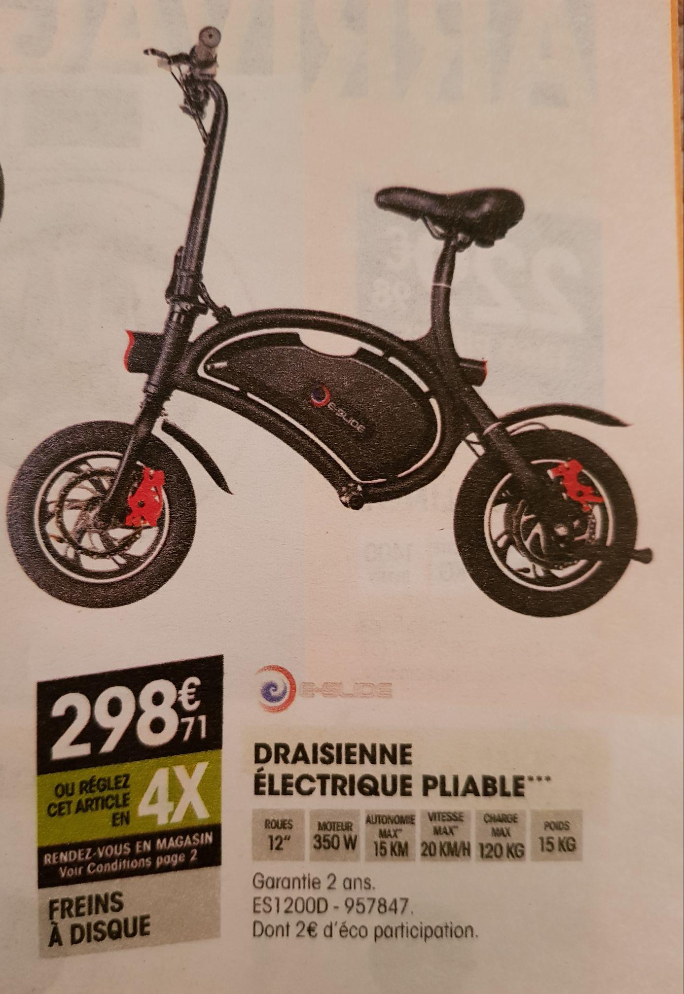 Draisienne Electrique Pliable E-Glide ES1200D - 350W