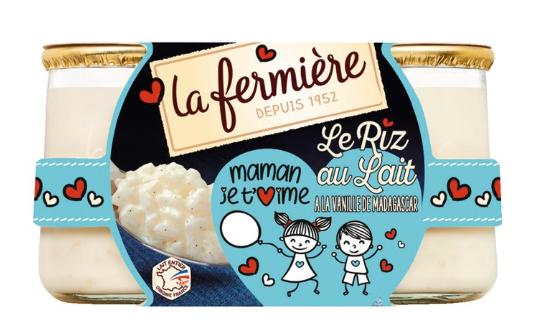 Riz au Lait la Fermière - 2x160g - Différents Parfums (via 0.6€ sur la carte + Shopmium)