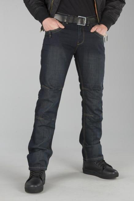 Sélection de Pantalons Moto en Kevlar en Promotion - Ex: Jean Course Drift Bleu Foncé pour Hommes (Tailles au choix)