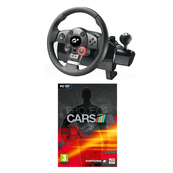 Volant Driving Force GT PC-PS3 Logitech  + Jeu  Project Cars Jeu PC