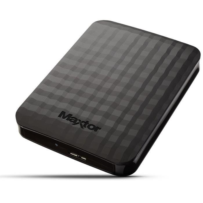"""Disque Dur Externe 2.5"""" Maxtor M3 - USB 3.0 (STSHX-M401TCBM) - 4To (Vendeur tiers)"""