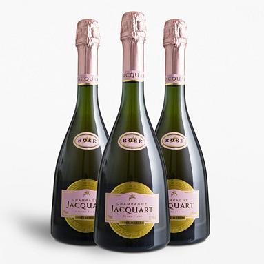 3 bouteilles de 75 cl de Champagne Jacquart - Cuvée Allegra, Rosé