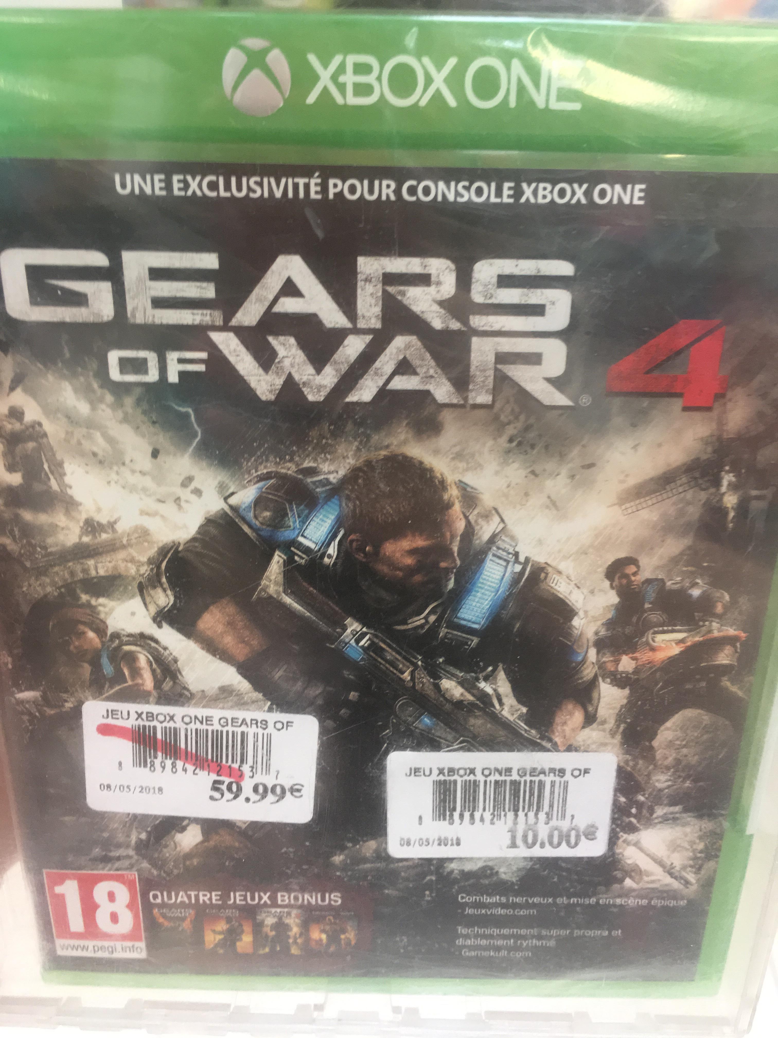 Sélection de jeux en promotion - Ex : Gears of War 4 sur Xbox One - Soissons (02)