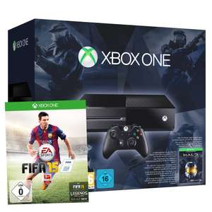 Pack Console Microsoft Xbox One + 2 Jeux (Fifa 15 et Halo)