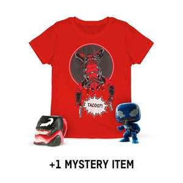 Précommande Lot Anti-Héros Édition Limitée :  T-shirt homme Deadpool +  mug 3D Venom + figurine Funko Pop! Venom EXC 234 + cadeau mystère