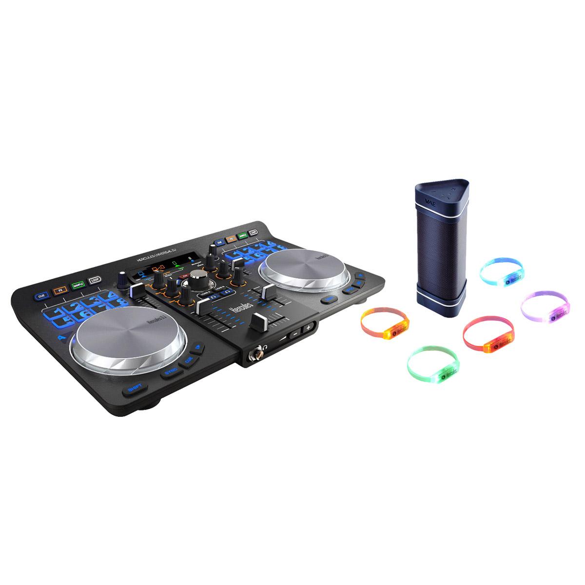 Contrôleur USB DJ Hercules + Enceinte BT outdoor et bracelets offerts