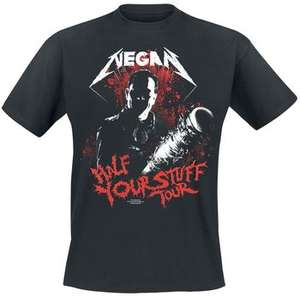 T-Shirt Negan Half Your Stuff Tour à Manches Courtes