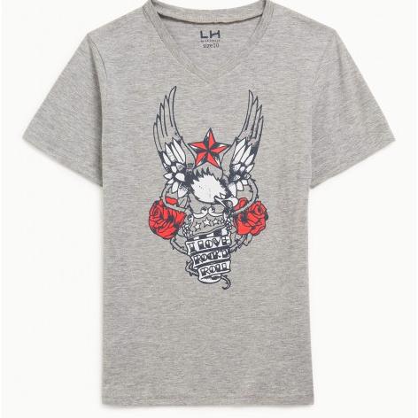 Jusqu'à 50% de réduction sur une sélection d'articles - Ex : T-shirt imprimé aigle en coton en 12 et 14 ans