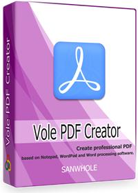 Logiciel Vole PDF Creator Professional LTUD gratuit sur PC (dématérialisé)