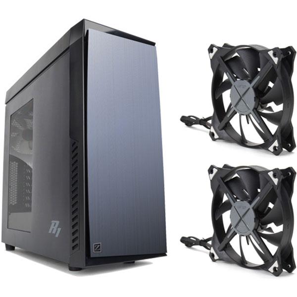 Sélection de Boîtiers PC en Promotion - Ex: Zalman R1 Noir + 2 Ventilateurs Zalman ZM-DF12