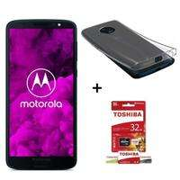 """Smartphone 5.7"""" Motorola Moto G6 Bleu Indigo - SnapDragon 450, 3 Go de Ram, 32 Go - Double SIM + Toshiba Micro SD 32 Go + coque en silicone (via ODR de 30€)"""
