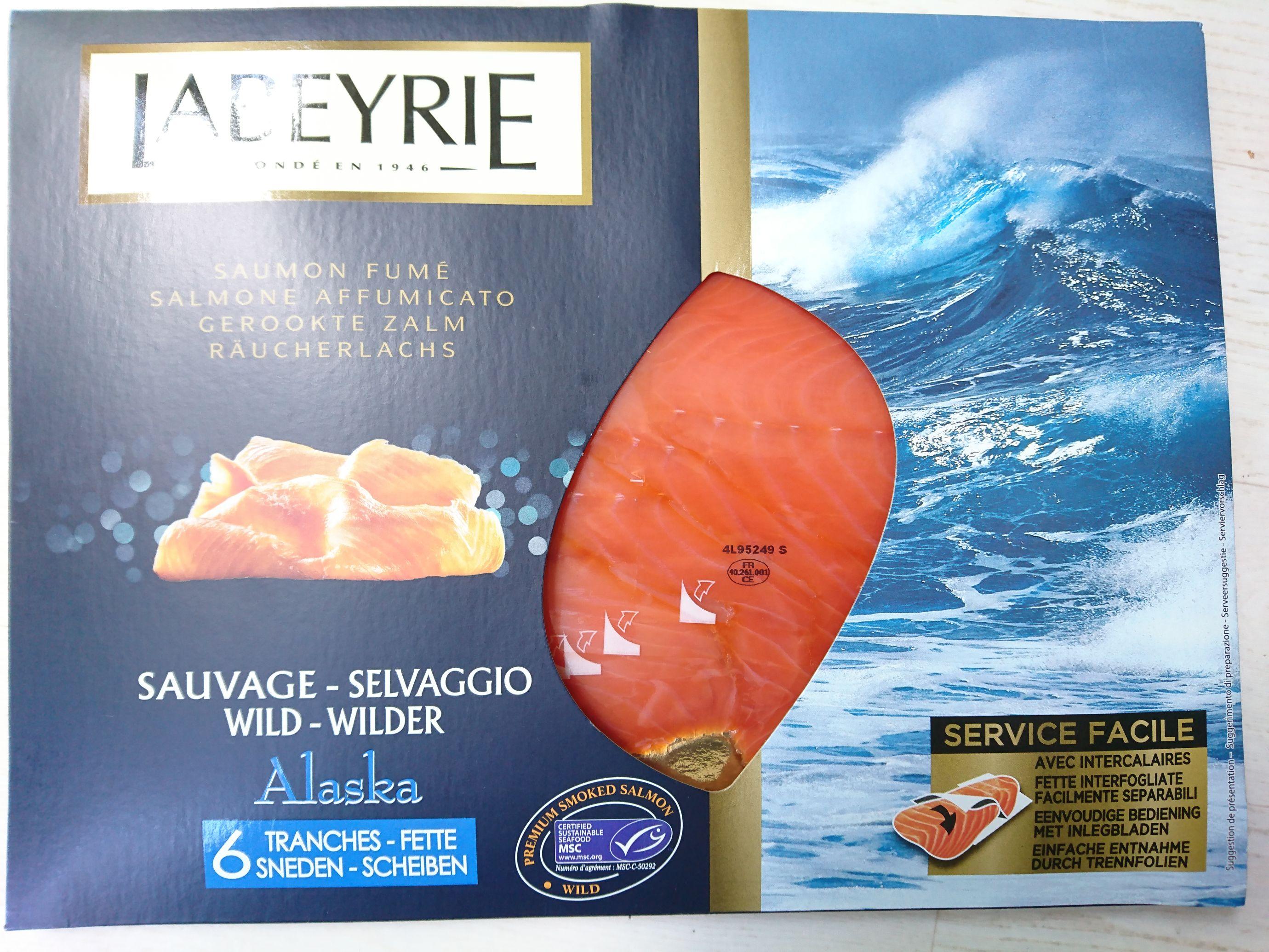 Lot de paquets de Saumon fumé d'Alaska Labeyrie - 2 x 160g - Houdemont (54)