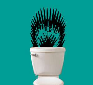 Sticker Game of Thrones pour les toilettes