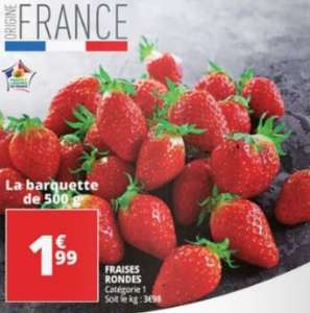 Barquette de Fraises Catégorie 1 (Origine France) - 500g