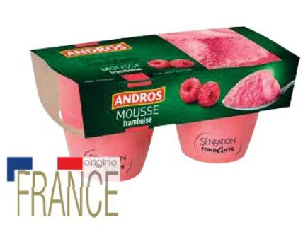 Pack de 2 Mousses Sensation Andros - Variétés et Grammages au choix  (Via Shopmium)