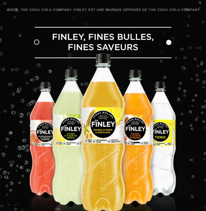 Bouteille de 1.5L de Finley (5 saveurs au choix) 100% remboursée via shopmium