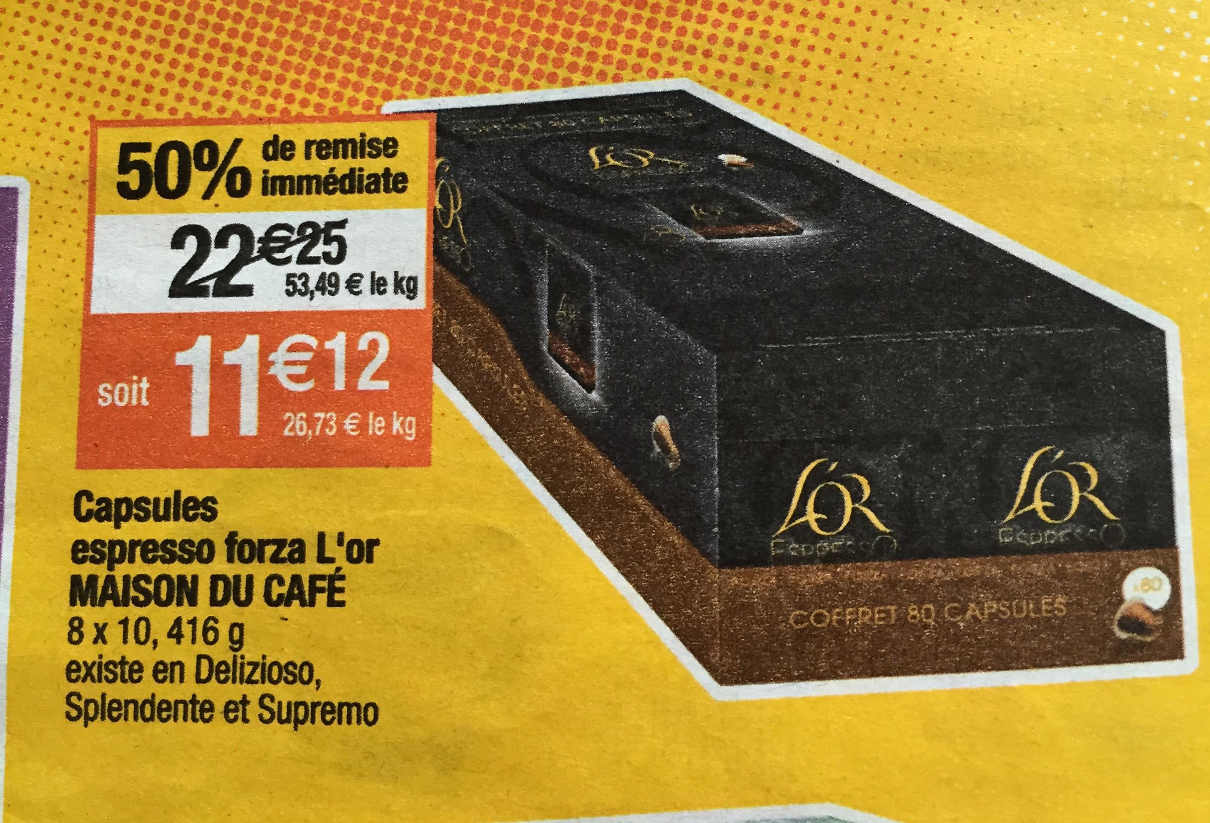 Coffret de 80 capsules L'or espresso