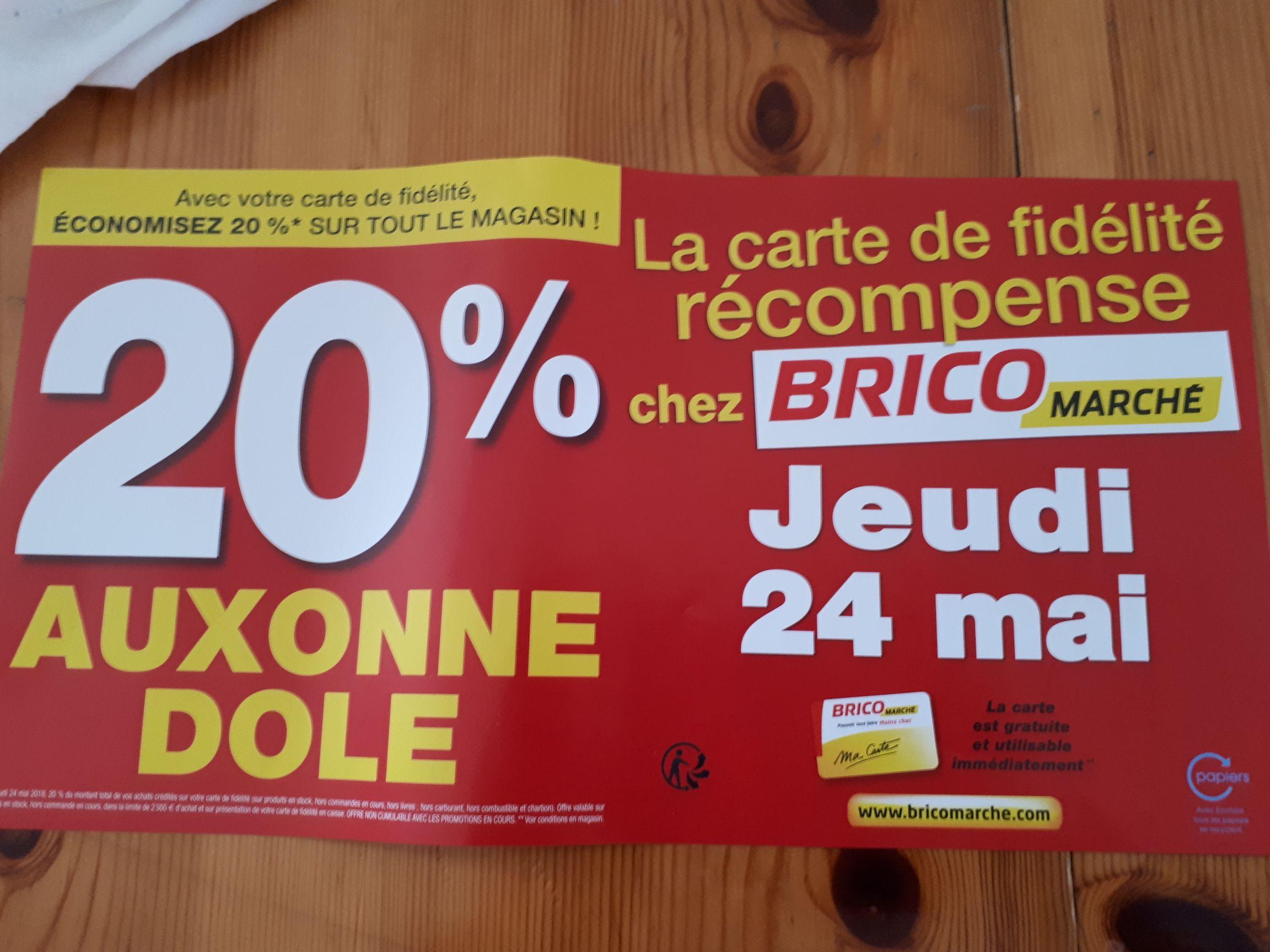 20% crédités sur la carte de fidélité sur tout le magasin - Auxonne / Dole (21 / 39)