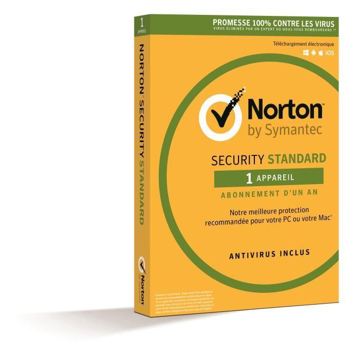 Logiciel anti-virus Norton Security 2017 gratuit sur PC - 3 mois (dématérialisé)