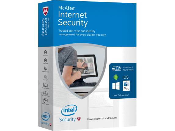 Logiciel anti-virus McAfee Internet Security 2018 sur PC - 6 mois (dématérialisé)