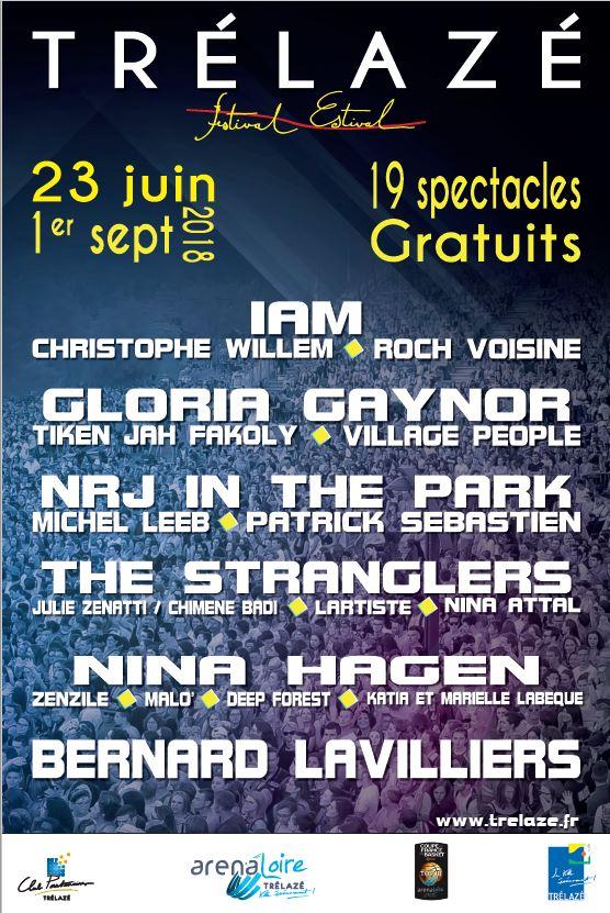 19 concerts gratuits dans le cadre du Festival Estival de Trélazé (49) - Ex : IAM gratuit, le 23 juin