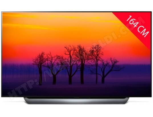 """TV 65"""" LG OLED65C8 - OLED, 4K UHD + Barre de son LG SK10Y - Dolby Atmos (via ODR de 1500 €)"""