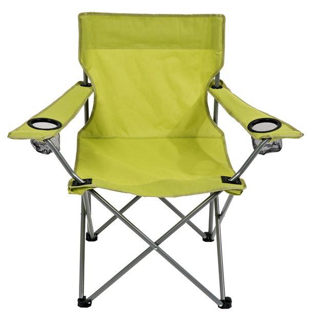 Chaise pliante camping Papillon (3 couleurs au choix) avec 2 porte-gobelets + sac