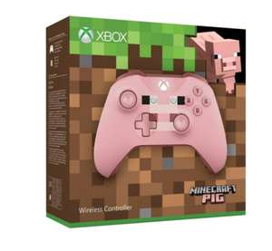 Manette Sans-fil Microsoft Xbox Minecraft Pig Edition Limitée - Bluetooth
