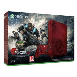 Pack console Micosoft Xbox One S (2 To, Édition Limitée) + Gears of War 4 à 199.99€ ou Xbox One S (1 To, blanc) + Gears of War 4 à 179.99€