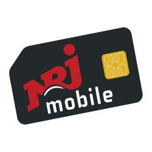 Forfait mensuel NRJ Mobile appels illimités + SMS illimités + 50 Go de DATA - pendant 1 an (à partir de la 2ème facture)