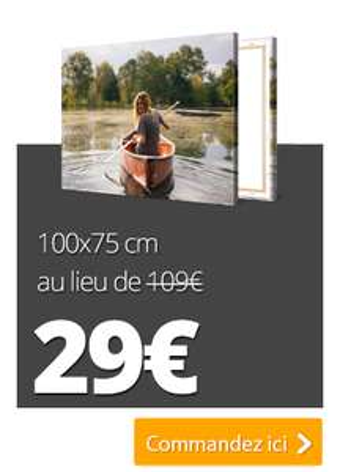 Sélection de Toiles Photo XXL en promotion avec Châssis en Bois - Ex: 120 x 80cm