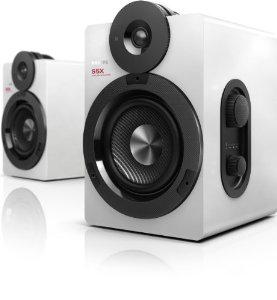 Enceintes stéréo sans fil Philips BTS5000W/10 - Bluetooth Apt-X AAC