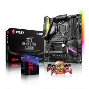 Pack Processeur Intel i7-8700K + Carte mère MSI Z370 Gaming Pro Carbon + DragonBall FighterZ offert