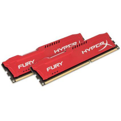 Mémoire HyperX Fury 16 Go (2 x 8 Go) - DDR3 1866 MHz Cas 10 (Blanc/Bleu/Rouge)