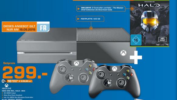 Pack Console Microsoft Xbox One + 1 manette supplémentaire + le jeu Halo en magasin