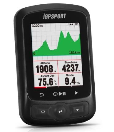 Compteur vélo GPS iGPSport iGS618 - Noir