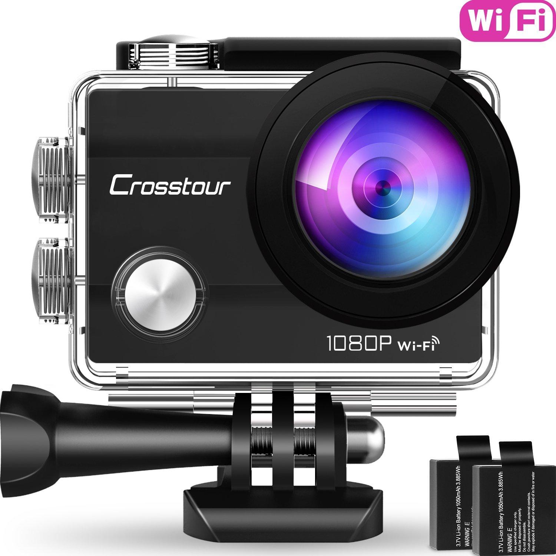 Caméra sportive Crosstour CT7000 - Full HD, Boitier étanche 30M + 18 Accessoires (vendeur tiers)