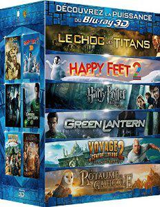 Coffret 6 films Blu-ray 3D (Harry Potter et les Reliques de la Mort 1, Le choc des titans, Happy Feet 2, etc..)