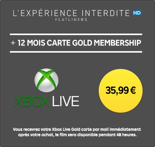 Abonnement Xbox Live Gold - 12 Mois + Film L'expérience interdite en Location HD 48h (Dématérialisé)
