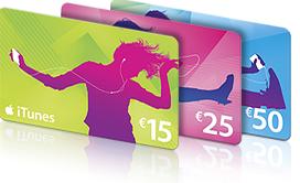 15% de réduction  sur les cartes iTunes de 25€ et 50€