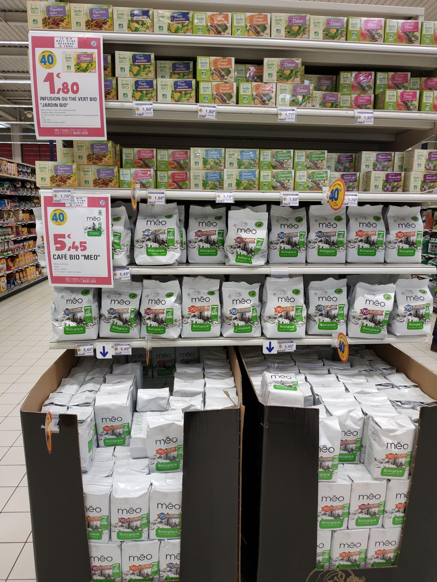 Paquet de Café Meo Bio 500g (moulu ou en grain) - Cleunay (35)