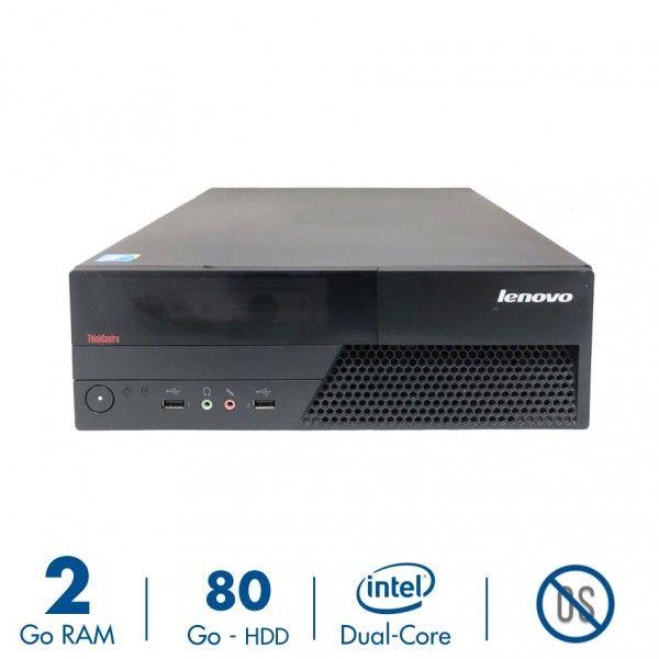 PC Lenovo ThinkCentre M58 - Pentium Dual-Core E6600 - 2Go RAM - 80 Go - Sans OS (Reconditionné)