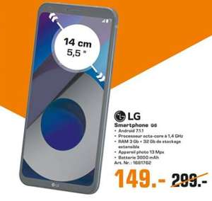 """Smartphone 5.5"""" LG Q6 M700N Noir - Full HD+, Snapdragon 435, RAM 3Go, 32Go, Android 7.1.1 (Esch - Frontaliers Luxembourg)"""