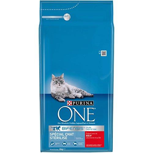 [Panier Plus] Sachet de croquettes pour chat Purina One Bifensis Spécial Chat Stérilisé - au bœuf & au blé, 6 kg