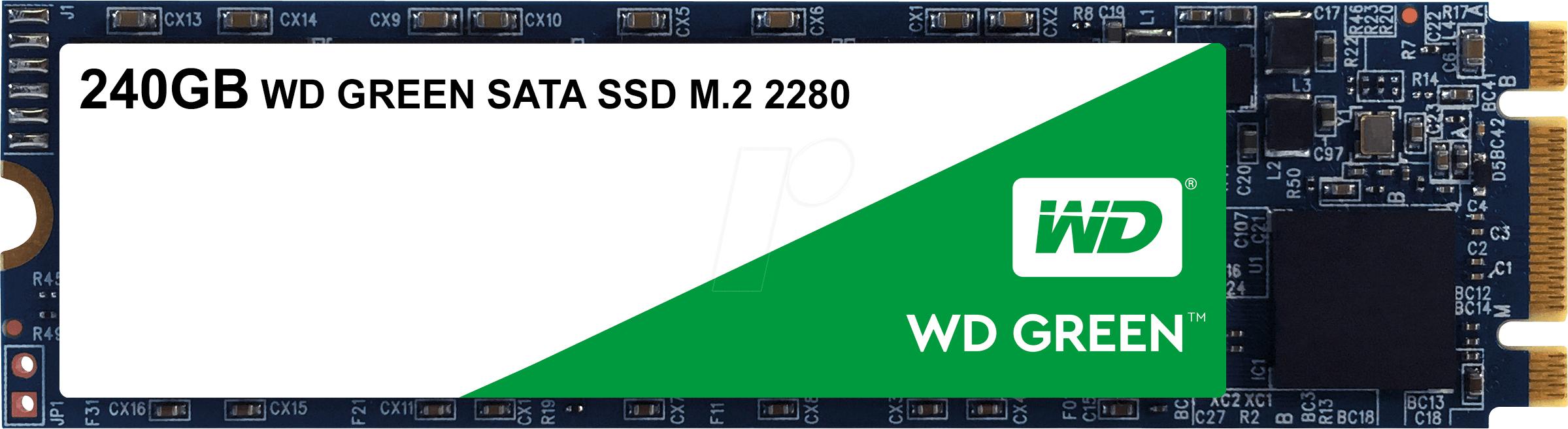 SSD interne M2 SATA Western Digital green 3D WDS240G2G0B - 240 GO, 545 mo/s
