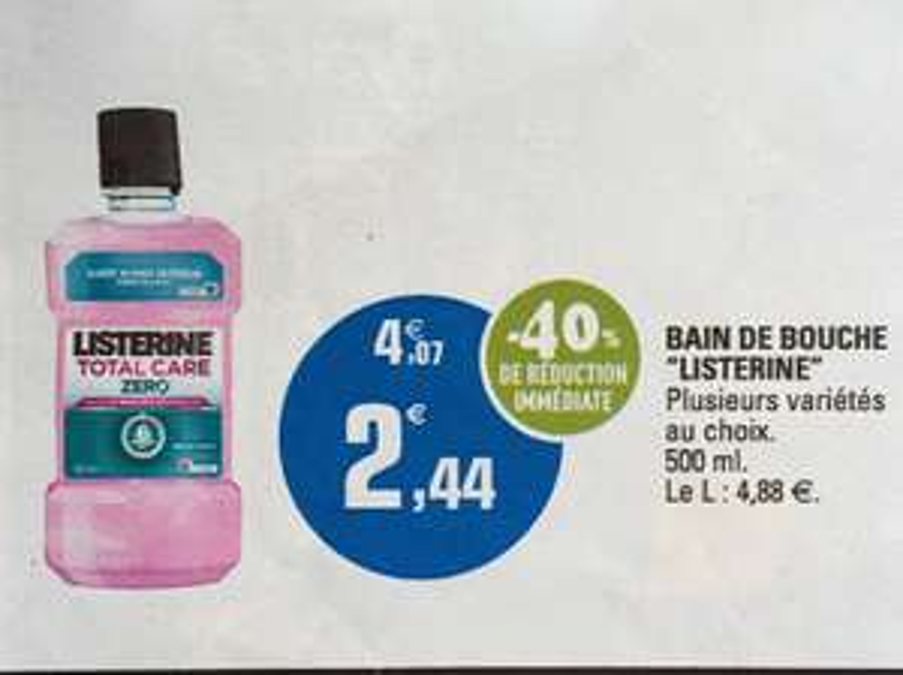 Bain de bouche Listerine 500ml
